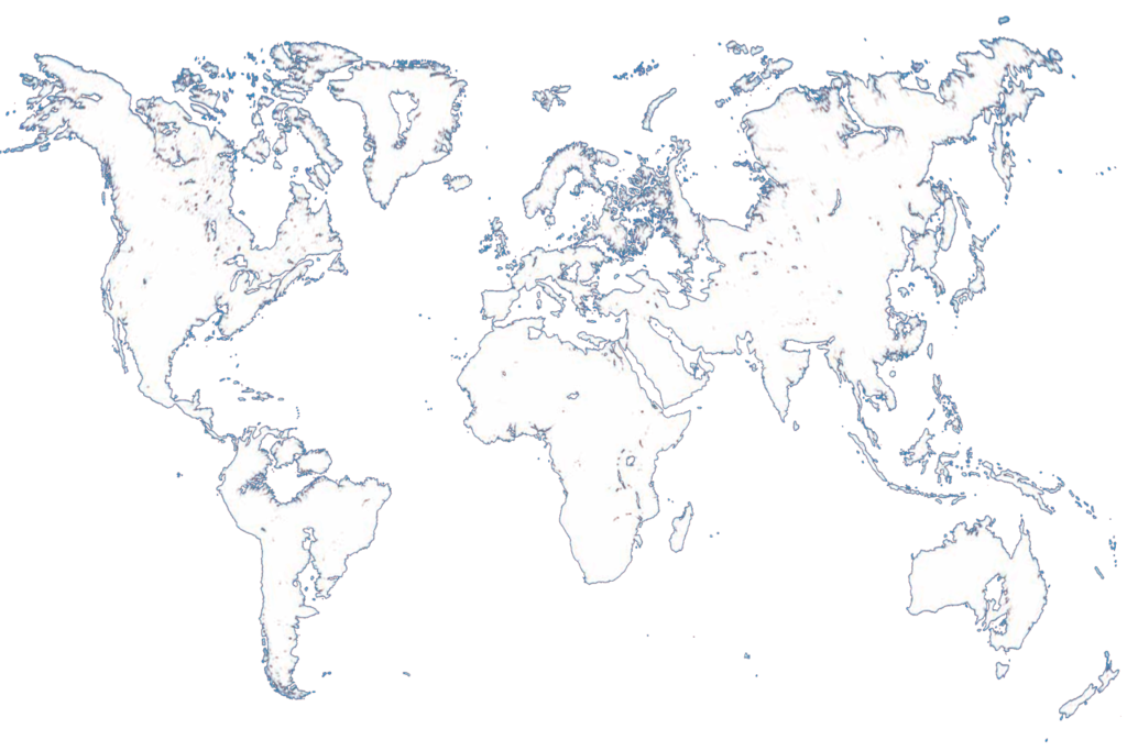 Map of the World When The Ice Melts